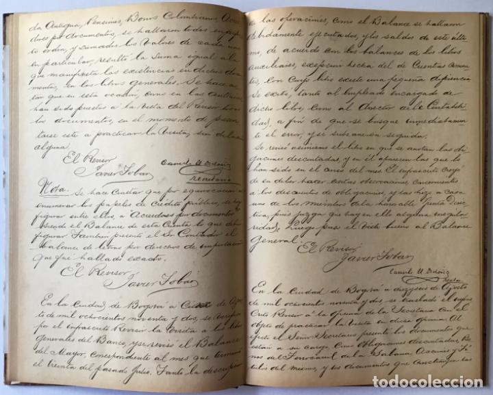 Libros de segunda mano: ACTAS DEL BANCO NACIONAL DE 1891 A 1894. Edición facsimilar de seguros Colombia. - Foto 4 - 244478835
