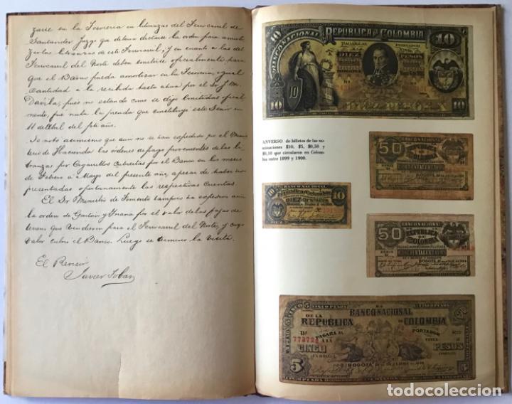 Libros de segunda mano: ACTAS DEL BANCO NACIONAL DE 1891 A 1894. Edición facsimilar de seguros Colombia. - Foto 5 - 244478835