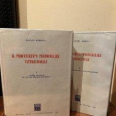 Libros de segunda mano: IL PROCEDIMENTO PROTOCOLLARE INTERNAZIONALE ADOLFO MARESCA. Lote 244693845