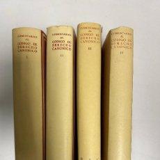 Libri di seconda mano: COMENTARIOS AL CÓDIGO DE DERECHO CANÓNICO, CON EL TEXTO LATINO Y CASTELLANO, BAC MADRID 1963, LEER. Lote 245457690