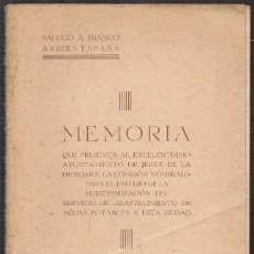 Libros de segunda mano: MEMORIA QUE PRESENTA EL AYUNTAMIENTO DE JEREZ MARZO 1938 - A-JER-0614. Lote 245978535