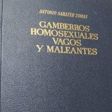 Libros de segunda mano: GAMBERROS, HOMOSEXUALES, VAGOS Y MALEANTES. (ESTUDIO JURÍDICO-SOCIOLÓGICO)SABATER TOMÁS, ANTONIO. Lote 246286695