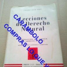 Libros de segunda mano: LECCIONES DE DERECHO NATURAL FRAMCISCO DE PUY G8. Lote 247154335
