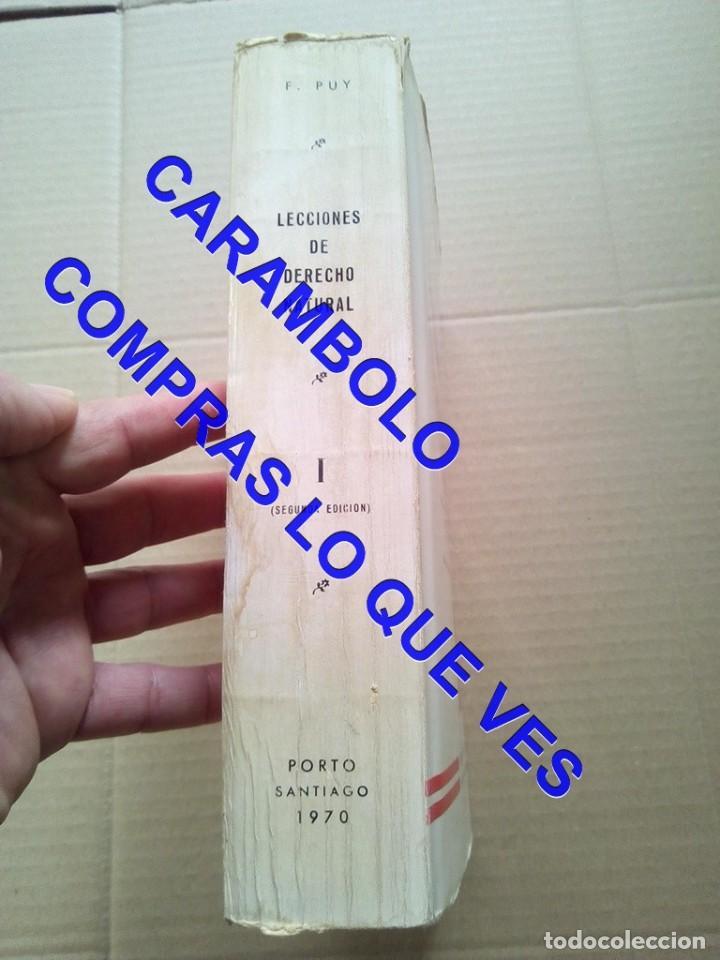 Libros de segunda mano: lecciones de derecho natural FRAMCISCO DE PUY G8 - Foto 2 - 247154335
