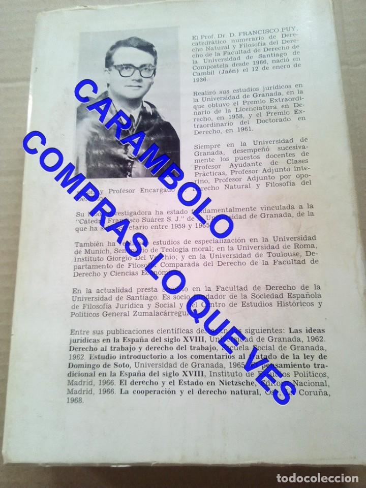 Libros de segunda mano: lecciones de derecho natural FRAMCISCO DE PUY G8 - Foto 4 - 247154335