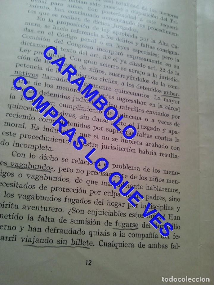 Libros de segunda mano: EL PRIMER TRIBUNAL DE MENORES DE ESPAÑA GABRIEL Mª DE YBARRA 1925 G8 - Foto 9 - 247162575