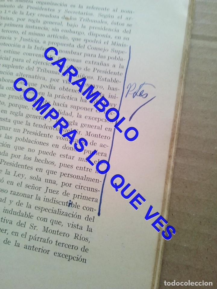 Libros de segunda mano: EL PRIMER TRIBUNAL DE MENORES DE ESPAÑA GABRIEL Mª DE YBARRA 1925 G8 - Foto 13 - 247162575