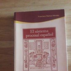Libros de segunda mano: EL SISTEMA PROCESAL ESPAÑOL FRANCISCO RAMOS MÉNDEZ 9A EDICIÓN ATELIER LIBROS JURÍDICOS. Lote 247538710