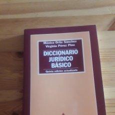 Libros de segunda mano: DICCIONARIO JURIDICO BASICO MONICA ORTIZ VIRGINIA PEREZ 5A ED TECNOS. Lote 247549885