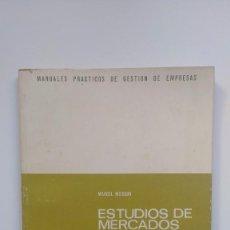 Livros em segunda mão: ESTUDIO DE MERCADOS Y PROMOCIÓN DE VENTAS - MARCEL MOISSON - EDICIONES DEUSTO, 1977. Lote 251115405