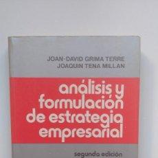 Livros em segunda mão: ANÁLISIS Y FORMULACIÓN DE ESTRATEGIA EMPRESARIAL - JOAN-DAVID GRIMA / JOAQUÍN TENA - ED. HISPANO EU.. Lote 251115920