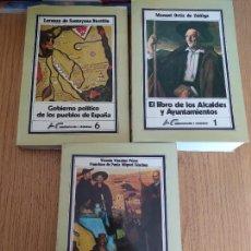 Libros de segunda mano: LOTE DE 3 INTERESANTES LIBROS DE TEMAS LOCALES. INST. ESTUDIOS ADMINISTRACION LOCAL, BUEN ESTADO.. Lote 251827475