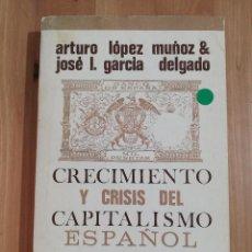 Libri di seconda mano: CRECIMIENTO Y CRISIS DEL CAPITALISMO ESPAÑOL (ARTURO LÓPEZ MUÑOZ / JOSÉ L. GARCÍA DELGADO). Lote 252787190