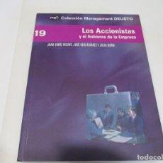 Libros de segunda mano: JOAN ENRIC RICART, JOSÉ LUIS ÁLVAREZ, JULIA GIFRA LOS ACCIONISTAS Y EL GOBIERNO DE LA EMPRESA W6363. Lote 253152885