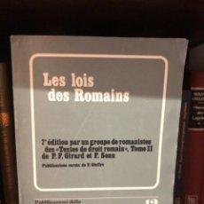 Libros de segunda mano: LES LOIS DES ROMAIND GIRARD SEN. Lote 253845095