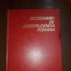 Libros de segunda mano: DICCIONARIO DE JURISPRUDENCIA ROMANA- MANUEL JESÚS GARCÍA GARRIDO.. Lote 255373955