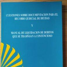 Libros de segunda mano: CUESTIONES SOBRE DOCUMENTACION PARA EL RECOBRO JUDICIAL DE DEUDAS. CENTRAL HISPANO, 1997 MUY RARO. Lote 256017915