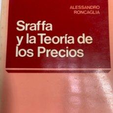 Libros de segunda mano: STAFFA Y LA TEORÍA DE LOS PRECIOS. Lote 259889335
