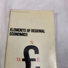 Libros de segunda mano: ELEMENTS OF REGIONAL ECONOMICS,HARRY RICHARDSON. Lote 259904175