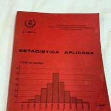 Libros de segunda mano: ESTADÍSTICA APLICADA, J. L. LORENTE. Lote 259911845