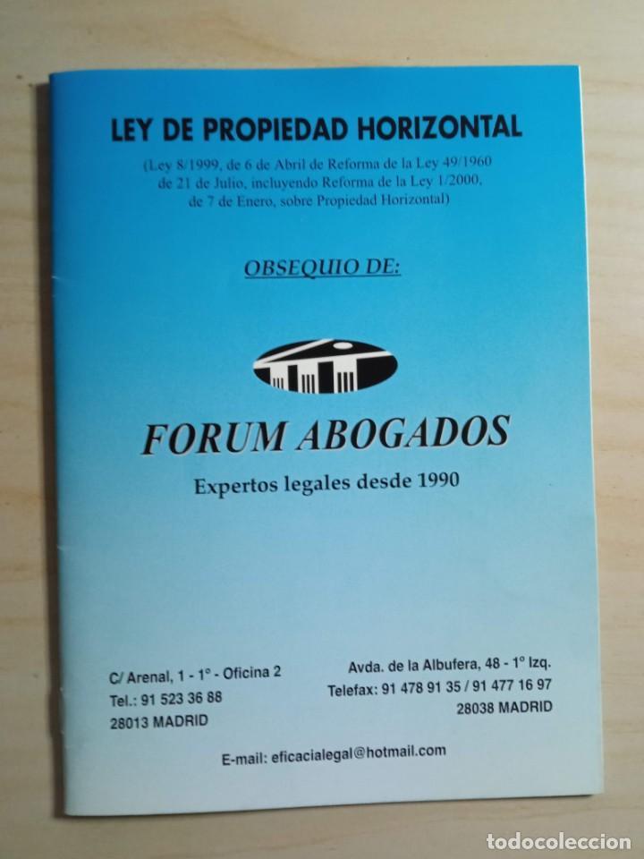 LEY DE PROPIEDAD HORIZONTAL - FORUM ABOGADOS - 2000 (Libros de Segunda Mano - Ciencias, Manuales y Oficios - Derecho, Economía y Comercio)