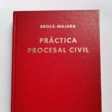 Libros de segunda mano: PRÁCTICA PROCESAL CIVIL BROCÁ-MAJADA TOMO IX ÍNDICES 1990. Lote 261567125