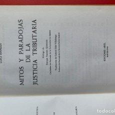 Libri di seconda mano: EINAUDI. MITOS Y PARADOJAS DE LA JUSTICIA TRIBUTARIA - EINAUDI LUIGI. Lote 262275715