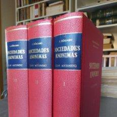 Libros de segunda mano: OBRA COMPLETA, SOCIEDADES ANÓNIMAS, ALEJANDRO BÉRGAMO, MADRID, 1970. Lote 262466070