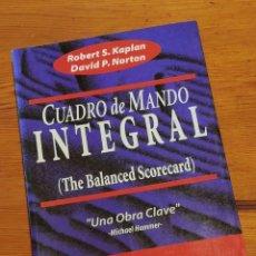 Libros de segunda mano: CUADRO DE MANDO INTEGRAL (THE BALANCED SCORECARD) - KAPLAN, NORTON, ED. GESTIÓN 2000, 1A ED 4A REIMP. Lote 263149595