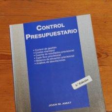 Libros de segunda mano: CONTROL PRESUPUESTARIO - JOAN M. AMAT, GESTIÓN 2000, 1998 5A ED. Lote 263150310