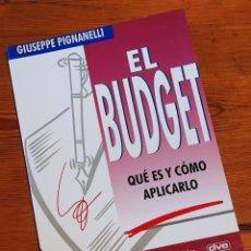 Libros de segunda mano: EL BUDGET. QUÉ ES Y CÓMO APLICARLO - G. PIGNANELLI, ED. DE VECCHI, 2000. Lote 263150565