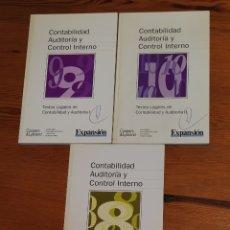 Libros de segunda mano: CONTABILIDAD, AUDITORÍA Y CONTROL INTERNO, EXPANSION - COOPERS & LYBRAND, TOMOS 8 9 10. Lote 263151365