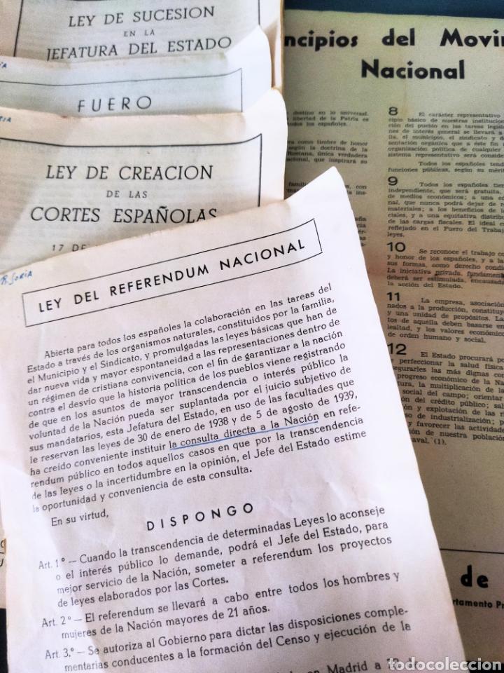 LOTE DE 6 BOLETINES DE LEYES CREADAS EN LA POSGUERRA AÑOS 40 (Libros de Segunda Mano - Ciencias, Manuales y Oficios - Derecho, Economía y Comercio)