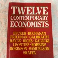 Libros de segunda mano: TWELVE CONTEMPORANI ECONOMISTS. Lote 263670380