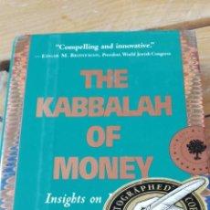 Libros de segunda mano: JUDAISMO. ECONOMIA. KABALA.THE KABBALAH OF MONEY. RABBI NILTON BONDER. SHAMBHALA. 1996. Lote 263884360