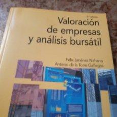 Libros de segunda mano: VALORACIÓN DE EMPRESAS Y ANÁLISIS BURSÁTIL. VARIOS AUTORES. Lote 264296796