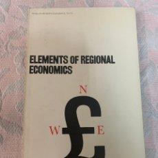 Libros de segunda mano: ELEMENTS OFF REGIONAL ECONOMIC, HARRY RICHARDSON. Lote 264421689