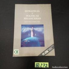 Libros de segunda mano: ESTRATEGIAS Y POLITICAS FINANCIERAS. Lote 265568744