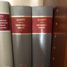Libros de segunda mano: KRIMINAL RECHT DERECHO ROMANO ZUMPT. Lote 267341714