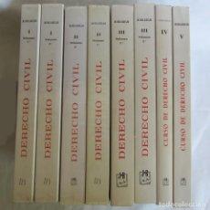 Libros de segunda mano: DERECHO CIVIL 5 TOMOS, 8 VOLÚMENES, COMPLETO, M. ALBALADEJO. Lote 267624839