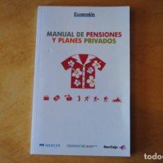 Libros de segunda mano: MANUAL DE PENSIONES Y PLANES PRIVADOS. Lote 268418329
