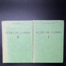 Libros de segunda mano: LEGISLACION SOBRE LETRA DE CAMBIO. DIEGO HERNANDEZ JUAN. ED. COLECCION NEREO. 2 TOMOS. Lote 268843129