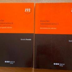 Libros de segunda mano: DERECHO ADMINISTRATIVO, 2 TOMOS, RAMON PARADA. Lote 269061463