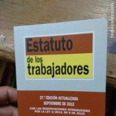 Libros de segunda mano: ESTATUTO DE LOS TRABAJADORES. 2012. L.36-1068. Lote 269438313