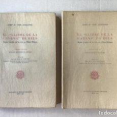 """Libros de segunda mano: EL """"LLIBRE DE LA CADENA"""" DE REUS. RÈGIM JURÍDIC DE LA VILA EN L'EDAT MITJANA. VOL. I. ESTUDI.... Lote 276789338"""