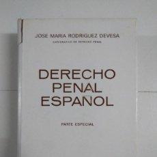 Libros de segunda mano: DERECHO PENAL ESPAÑOL. PARTE ESPECIAL - JOSÉ MARÍA RODRÍGUEZ DEVESA. Lote 277293938