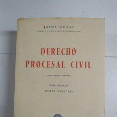 Libros de segunda mano: DERECHO PROCESAL CIVIL, II - JAIME GUASP. Lote 277294048