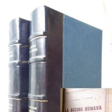Libros de segunda mano: LA ACCION HUMANA (TRATADO DE ECONOMIA) 1960 LUDWIG VON MISES. Lote 277626803
