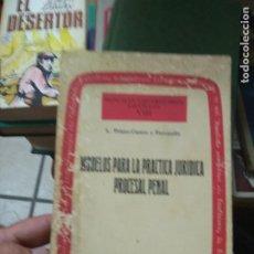 Libros de segunda mano: LIBRO MODELOS PARA LA PRÁCTICA JURÍDICA PROCESAL PENAL 1983 ED. TECNOS L-27005. Lote 277632533