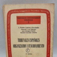 Libros de segunda mano: TRIBUNALES ESPAÑOLES ORGANIZACION Y FUNCIONAMIENTO. L. PRIETO-CASTRO Y FERRANDIZ. ED. TECNOS. 2ºED.. Lote 277711893